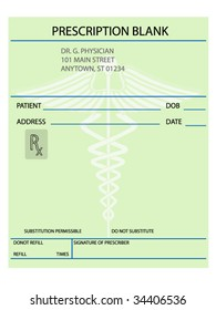 Vector prescription form -customize as necessary