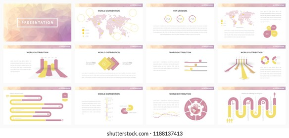 Vector presentation template. Infographics elements for business presentations and reports.