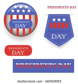 Vector Presidents Day Icons