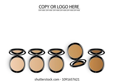 vector pressed powder on white background