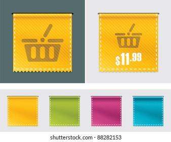 Vector price tag ribbon
