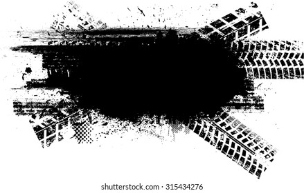 Vector Print Textured Tire Track .