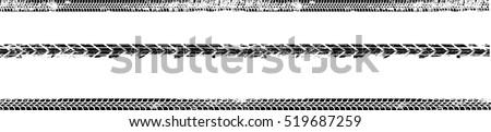 Vector Print Textured Tire