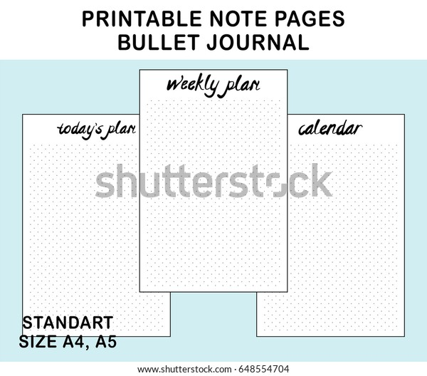 photograph regarding Printable Note Pages referred to as Vector Printable Observe Webpages Bullet Magazine Inventory Vector