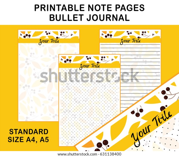 photograph about Printable Note Pages referred to as Vector Printable Be aware Web pages Diary Planners Inventory Vector