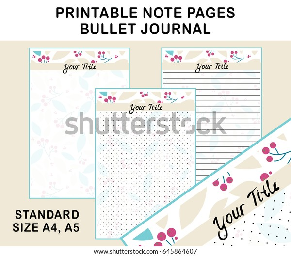 photo relating to Printable Note Pages identify Vector Printable Be aware Webpages Diary Planners Inventory Vector