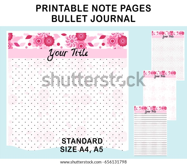 photo about Free Printable Journal Pages Lined known as Vector Printable Be aware Webpages Diary Planners Inventory Vector