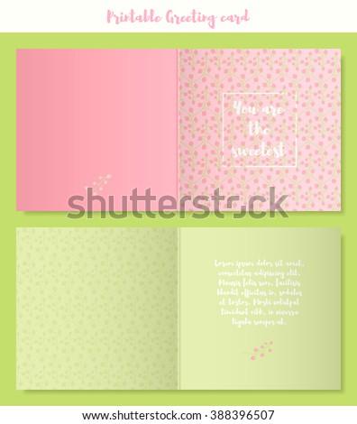 Vector printable template spring greeting card stock vector royalty vector printable template of spring greeting card with berries suitable for wedding invitation birthday m4hsunfo