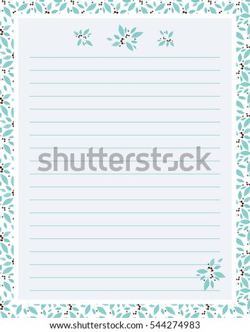 vector printing paper note cute paper stock vector royalty free