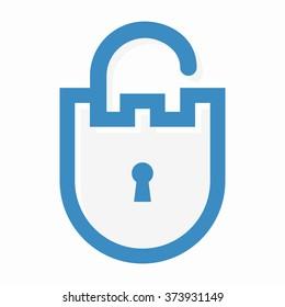 Vector privacy lock logo