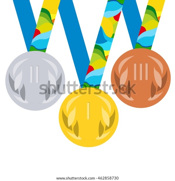 Vector Prize Medals Winners Gold Silver Stock Vector (Royalty Free