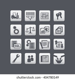 Vector product tracing and warehouse management icons