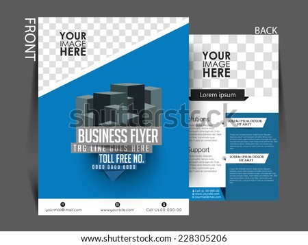 Vector Professional Flyer Business Brochure Template Stock Vector ...