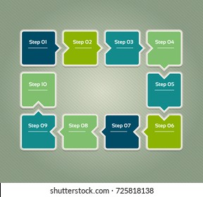 Vector progress background. Template for diagram, graph, presentation and chart. Business concept with 10 options, parts, steps or processes. Abstract background. eps 10