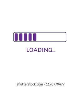 vector progress loading bar, loading icon, Download on white background. Download vector illustration.