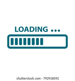 vector progress loading bar, loading icon, loading illustration