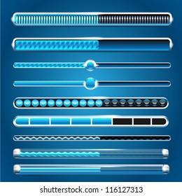 vector progress loading bars set