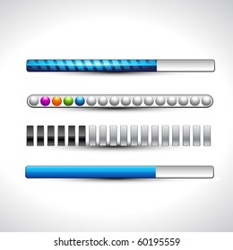 vector progress loading stylish bars