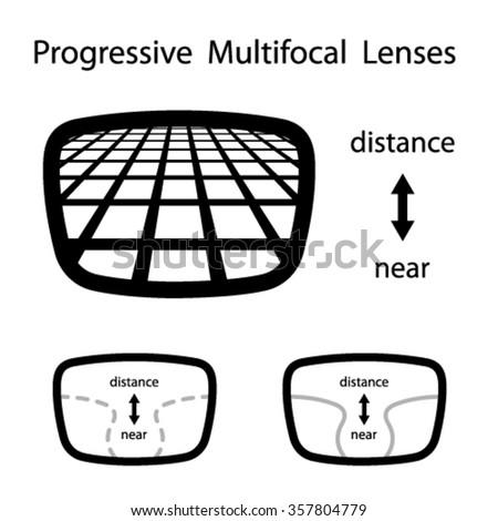 4bb17e7c64 Vector Progressive Multifocal Glasses Lenses Stock Vector (Royalty ...