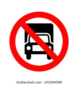 vector of prohibition of trucks passing