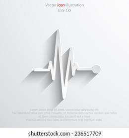 Vector pulse icon Heart beat, cardiogram. Eps 10.