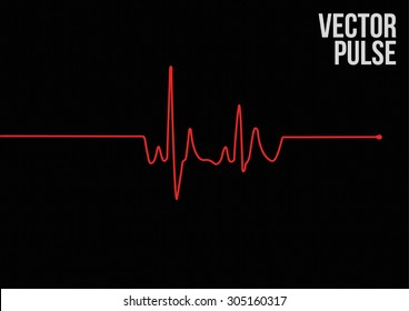 Vector Pulse. Vector Illustration