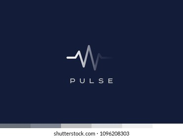 vector pulse logo design