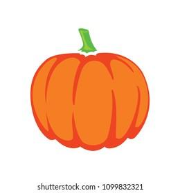 vector pumpkin illustration isolated, halloween holiday symbol