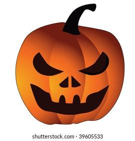 Vector pumpkin orange and yellow color. Halloween