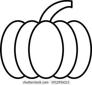 Vector Pumpkin Outline Icon Design