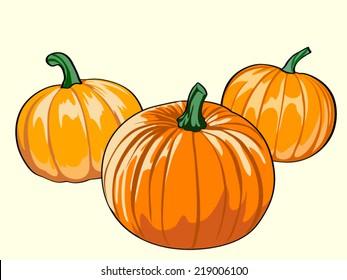 vector pumpkins