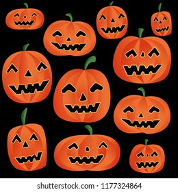 Vector pumpkins illustration for Halloween