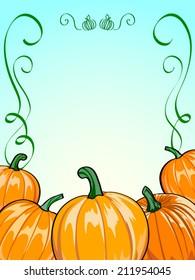 Vector pumpkins. Pumpkin Patch frame