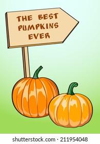 Vector pumpkins. Pumpkin Patch pointer