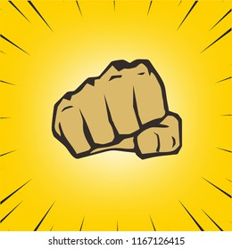 Vector of Punching Fist Hand