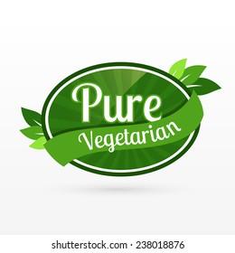 Pure Veg Icon Images Stock Photos Vectors Shutterstock