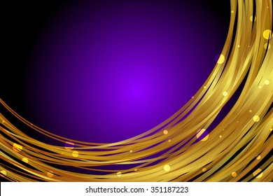 Vector purple background with gold decoration