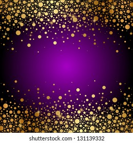 Vector purple and gold luxury background