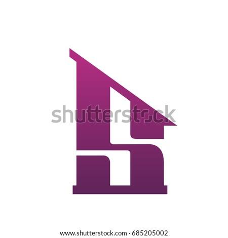 a7c4d5a2c Vetor stock de Vector Purple Single Letter S Real (livre de direitos ...