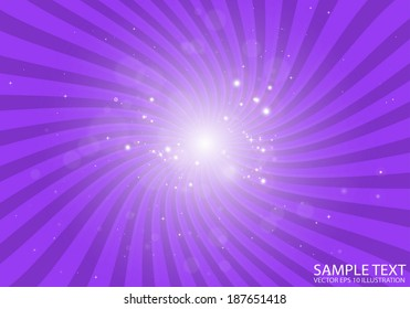 Vector purple space flare background illustration - Vector background star blast illustration