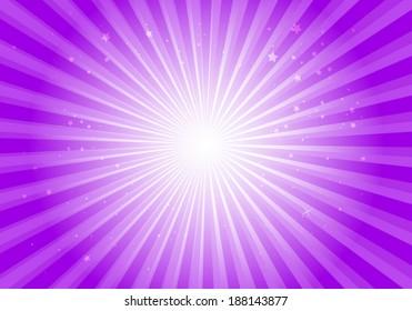 Vector purple star burst background illustration - Vector abstract  purple blast  template illustration