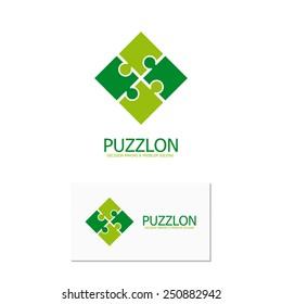 Vector puzzle design logo