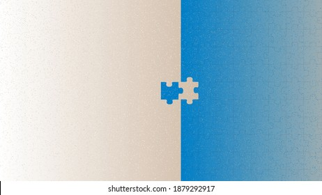 Vector puzzle in grain brush style
