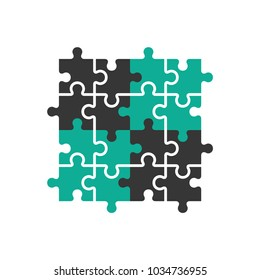 vector puzzle icon in trendy flat style