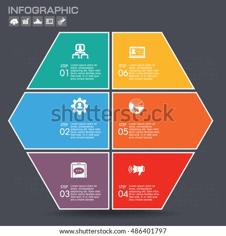 vector puzzle pieces template infographic business stock vector