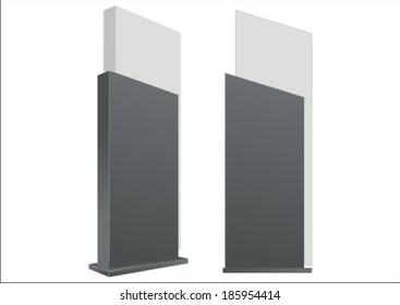 vector, pylon, sign, signage, construction, blank, concept, design, exhibition, outdoor, board, display