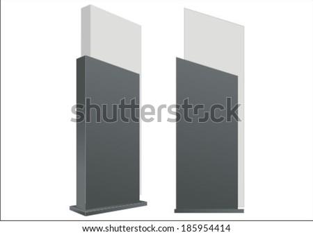 vector pylon sign signage construction blank のベクター画像素材