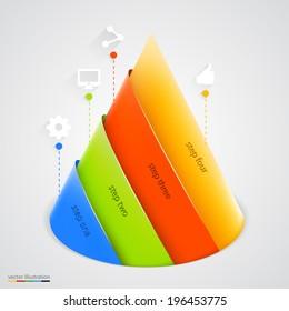 Vector pyramid infographic. Design template. Vector