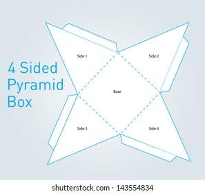 Vector Pyramid Shape Packaging Box