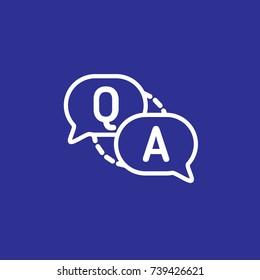 Vector qa question answer help icon